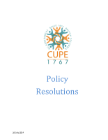 Policy Resolutions July 2013