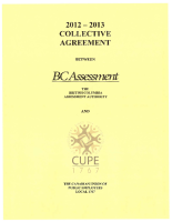 2012-2013 Collective Agreement